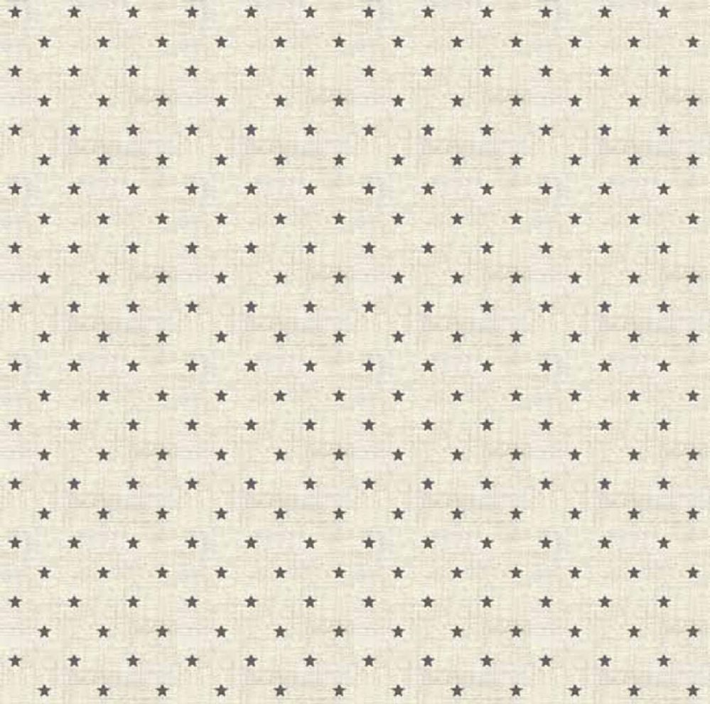 Makower Scandi Grey Mini Stars Christmas Fabric